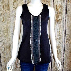 Hem & Thread Gray Tank Top Shirt Size S